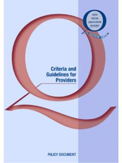 Criteria and Guidelines for Providers - W&RSETA