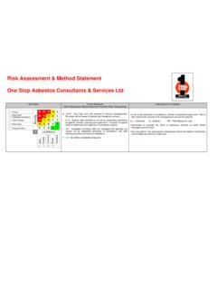 Risk Assessment & Method Statement One Stop …