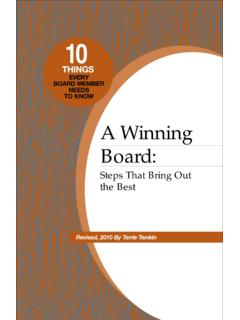 A Winning Board - First Nonprofit Foundation