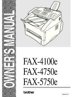 OWNER'S MANUAL FAX-5750e - Brother