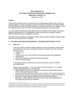 Policy Standards for Curriculum Planning and Programming ...