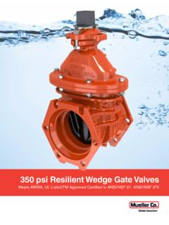 350 psi Resilient Wedge Gate Valves - muellercompany.com
