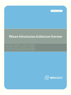 VMware Infrastructure Architecture Overview
