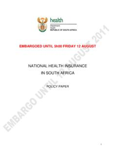 NATIONAL HEALTH INSURANCE IN SOUTH AFRICA - PPS
