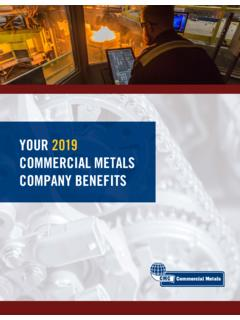 YOUR 2019 COMMERCIAL METALS COMPANY BENEFITS