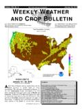 weather WEEKLY WEATHER AND CROP BULLETIN
