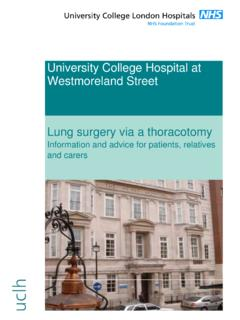 University College Hospital at Westmoreland Street Lung ...