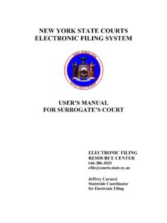 NEW YORK STATE COURTS ELECTRONIC FILING SYSTEM