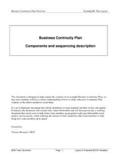 Business Continuity Plan - DCAG