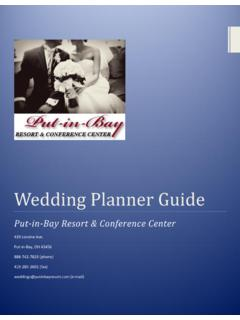 Wedding Planner Guide - Put in Bay Hotels, Put-in …