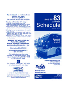 Real Time Bus Information - Welcome to Broward …