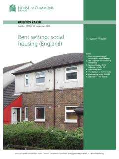 Rent setting: social housing (England)