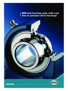 SNR ball bearing units with cast iron or pressed steel ...