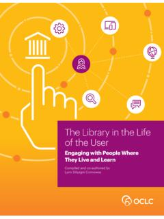 The Library in the Life of the User: Engaging with People ...
