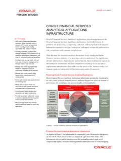 Oracle Financial Services Analytical Applications ...