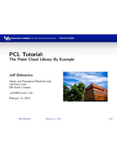 PCL Tutorial: - The Point Cloud Library By Example