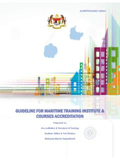 GUIDELINE FOR MARITIME TRAINING INSTITUTE & COURSES ...