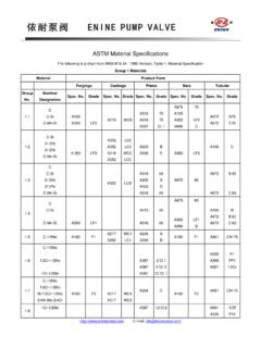 ASTM Material Specifications - eninevalve.com