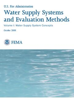 Water Supply Systems and Evaluation Methods: Volume I
