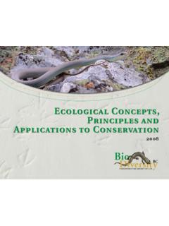 Ecological Concepts, Principles and Applications to ...