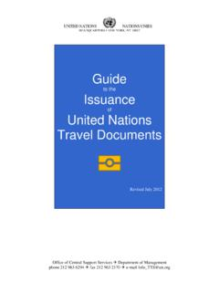 Guide Issuance United Nations Travel Documents - UNDP