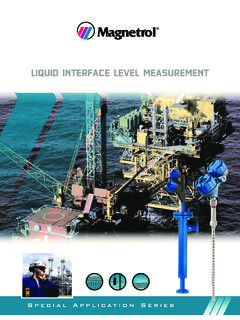 LIQUID INTERFACE LEVEL MEASUREMENT - …