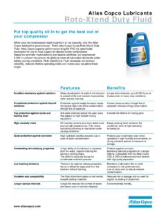 Atlas Copco Lubricants Roto-Xtend Duty Fluid