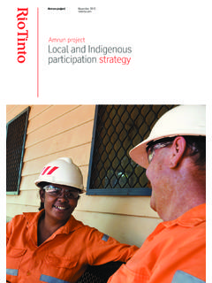Amrun project Local and Indigenous participation strategy
