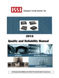 2016 Quality and Reliability Manual - ISSI