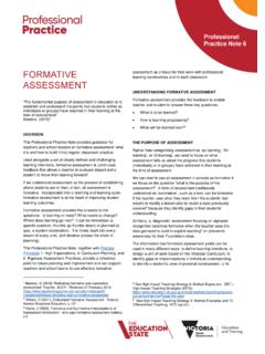 FORMATIVE ASSESSMENT - education.vic.gov.au