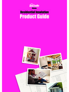 Residential Insulation Product Guide - Pink Batts