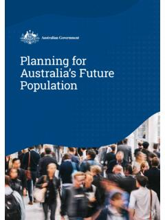 Planning for Australia's future population