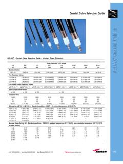 Andrew Coaxial Cable Selection Guide - Signal Control
