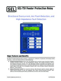 SEL-751 Feeder Protection Relay - IEN Europe