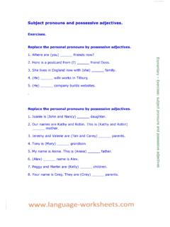 Replace the personal pronouns by possessive …