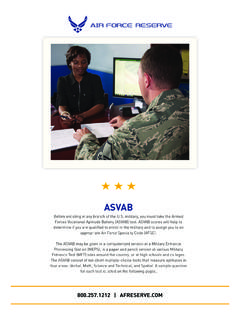ASVAB - Air Force Reserve