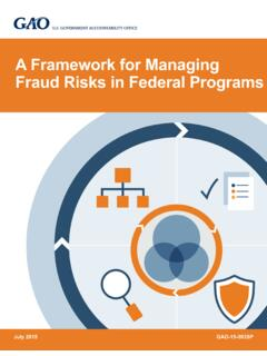 GAO-15-593SP, A Framework for Managing Fraud Risks in ...