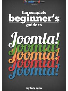 THE COMPLETE BEGINNERS GUIDE TO JOOMLA - unibas.it