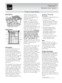 Banded Liner System Product Data Sheet - BayInsulation