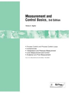 Measurement and Control Basics, 3rd Edition - Yola