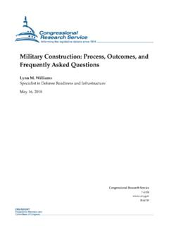 Military Construction: Process, Outcomes, and Frequently ...