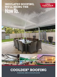 INSULATED ROOFING, - stratco.com.au