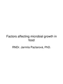Factors affecting microbial growth in food - vscht.cz
