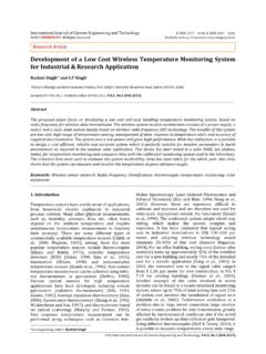 Development of a Low Cost Wireless Temperature …