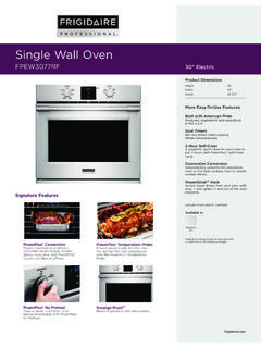 Single Wall Oven - Frigidaire