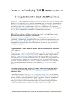 8 Things to Remember About Child Development
