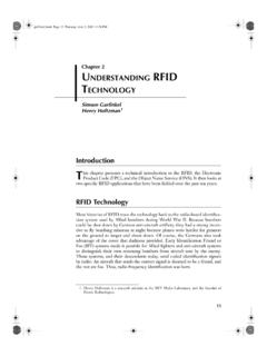 Chapter 2 UNDERSTANDING RFID TECHNOLOGY