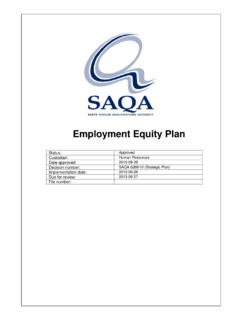 Employment Equity Plan - South African Qualifications ...