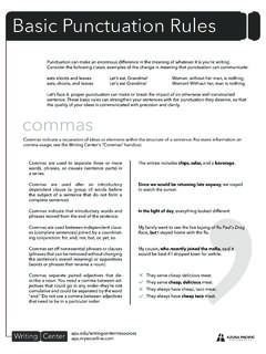 asic Punctuation Rules - apu.edu