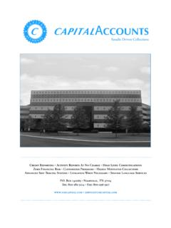 Results Driven Collections - Capital Accounts